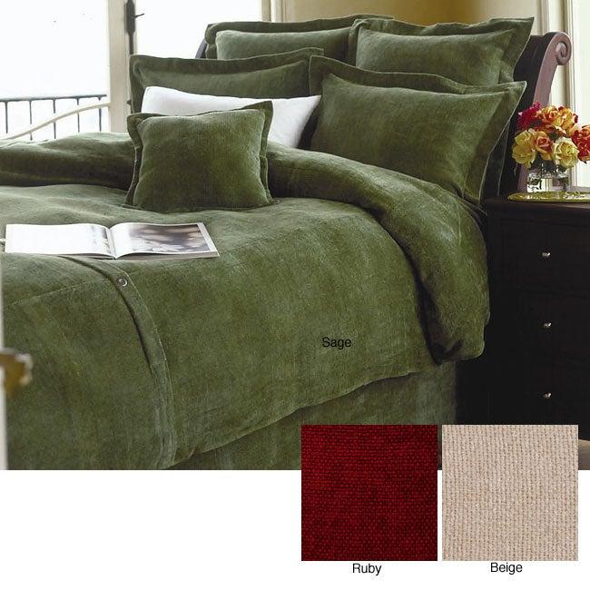 Cotton Chambray Duvet Set