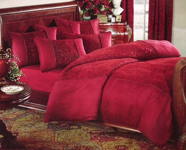 Abby Red King-size Duvet Cover Set