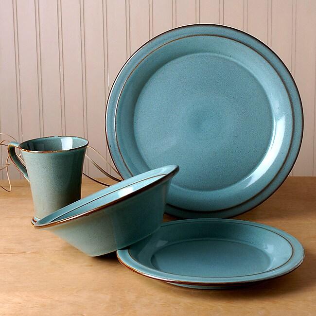 Prairie 16-pc. Dinnerware Set (Turquoise)