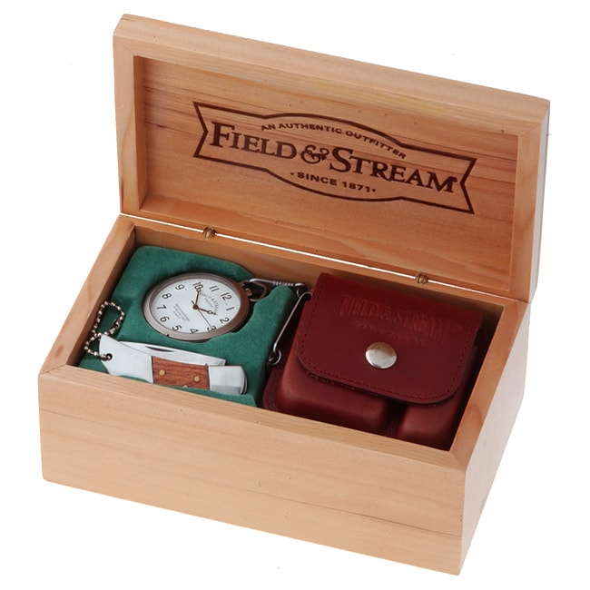 Field & Stream Pocket Watch & Knife Gift Set