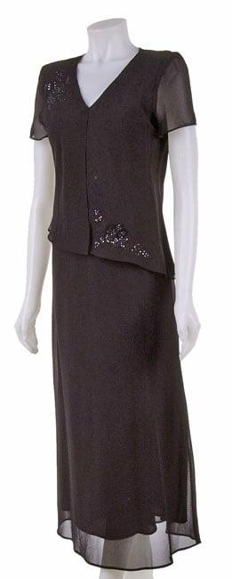 R&K Originals Beaded Mock Jacket Dress