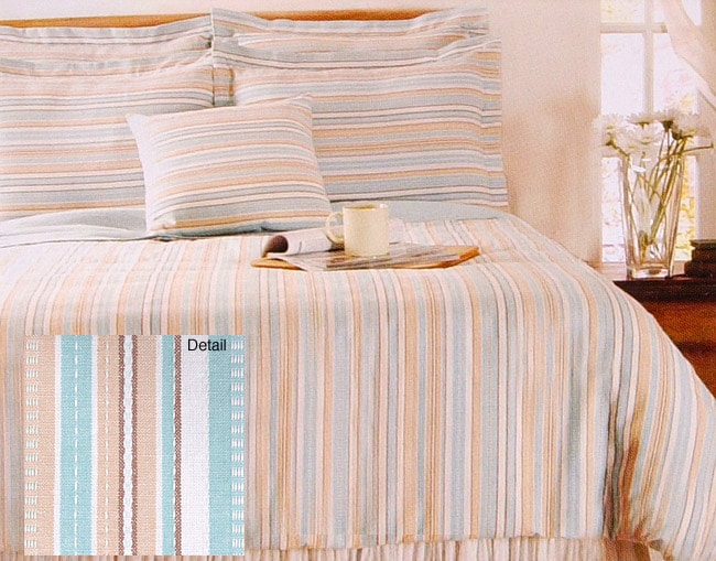 Mod Stripe Mineral Duvet Cover Set (Twin)