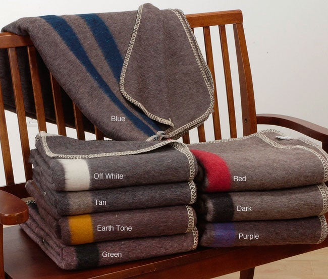 Alpaca and Wool Striped Throw Blankets (Taupe)
