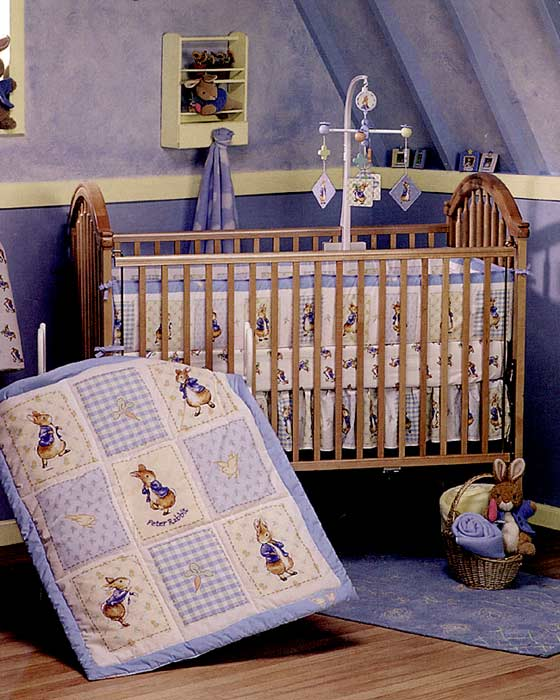 Deluxe 3 Piece Peter Rabbit Crib Bedding Set