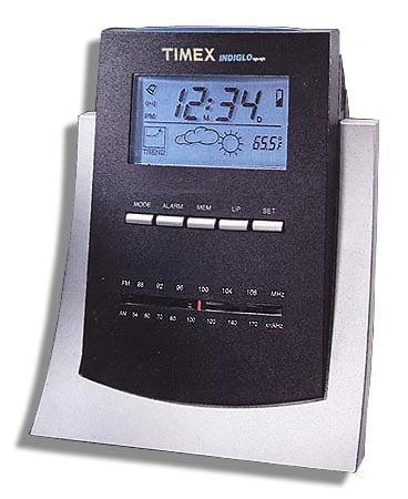 timex indiglo night light alarm clock radio free shipping today 006058. Black Bedroom Furniture Sets. Home Design Ideas