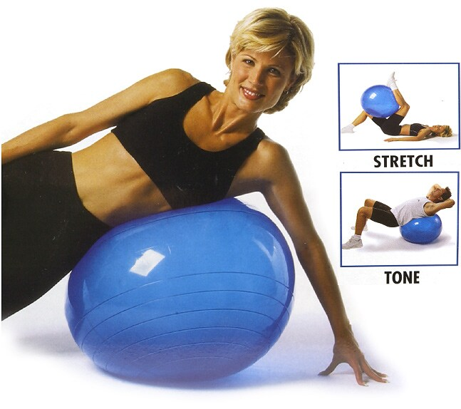 Dynaflex Exerflex  Fitness Ball with DVD