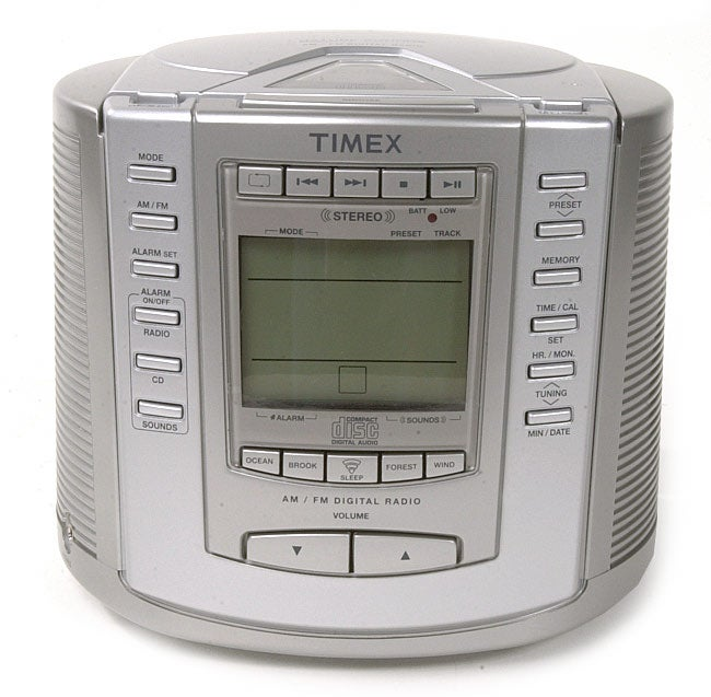 Timex T601S CD Clock Radio with Nature Sounds