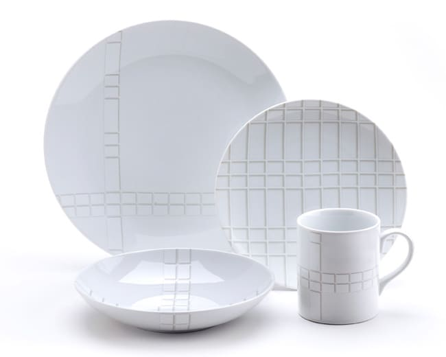 studio nova park avenue grid 16 piece dinnerware set free shipping