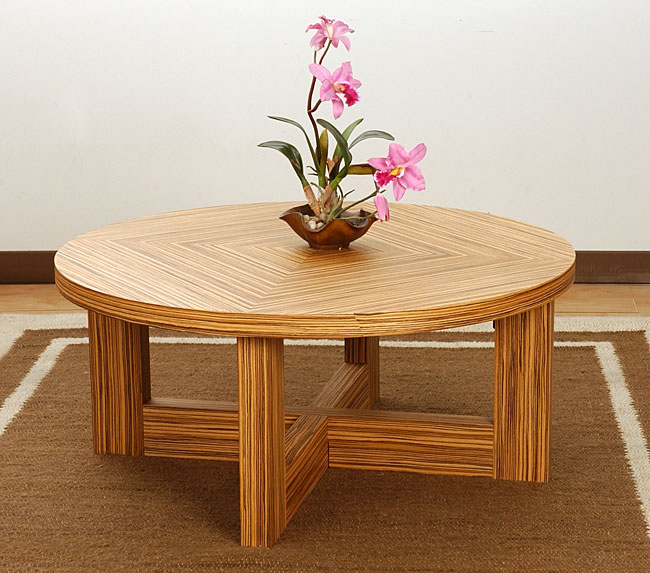 Zebra Wood Coffee Table