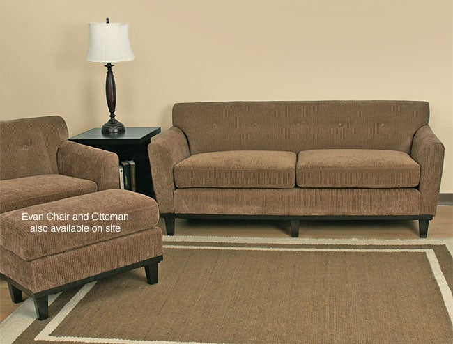 Shop Evan Toast Sofa Free Shipping Today 2181970