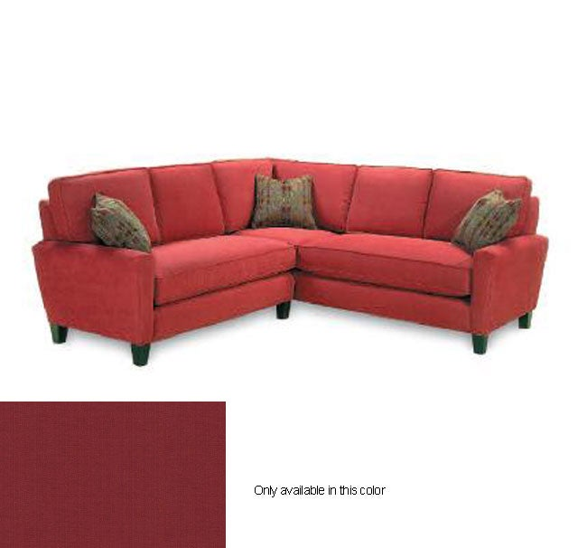 Dark Brick Red Sectional Sofa