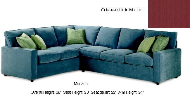 Monaco Cranberry Sectional Sofa