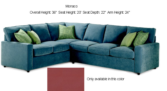Thumbnail Monaco Plum Sectional Sofa ...