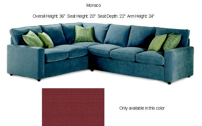 Monaco Cranberry Sleeper Sectional Sofa Free Shipping