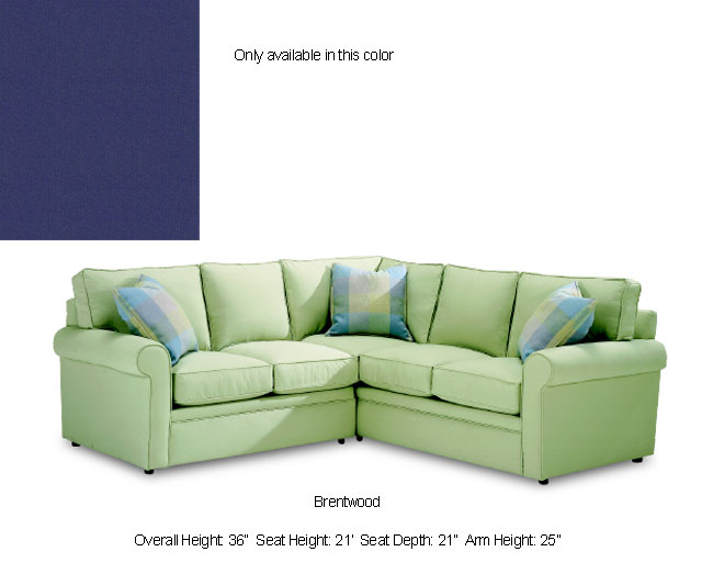 Brentwood Royal Blue Sectional Sofa