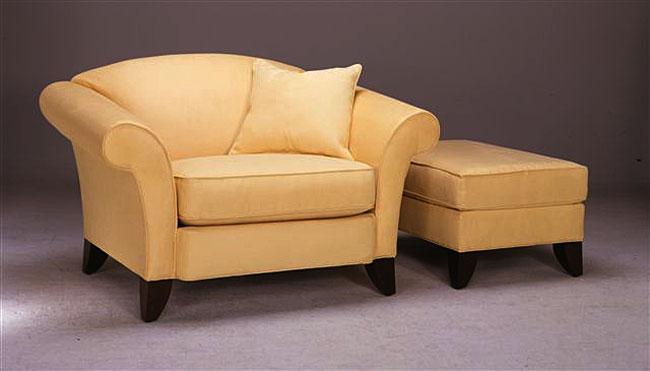 Cari Butter Chair & Ottoman