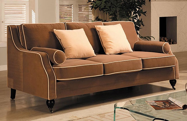 Carolyn Sofa With Contrast Piping Free Shipping Today