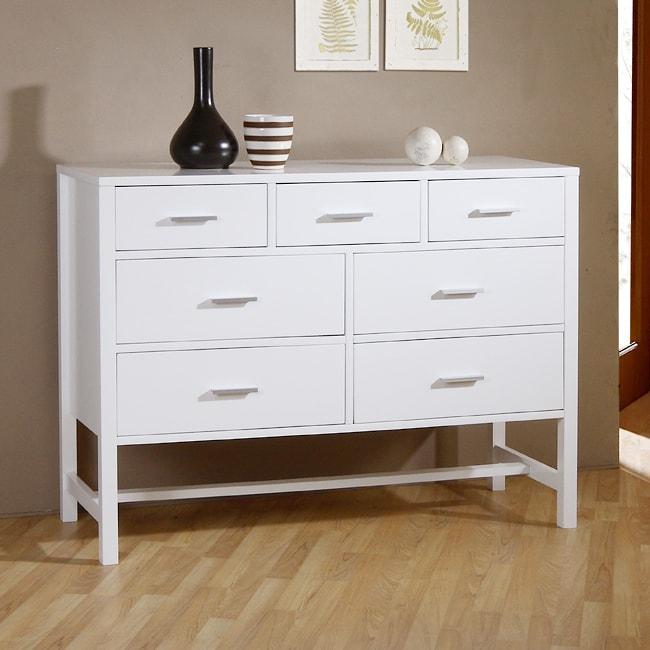 Bello Gloss White 7-drawer Chest