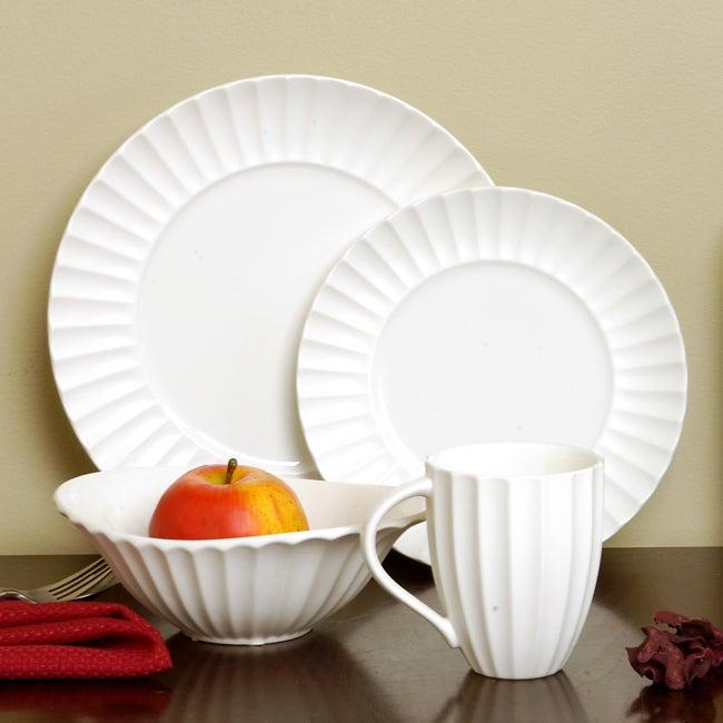 Sasaki Dynasty Matte White 16-piece Dinnerware Set