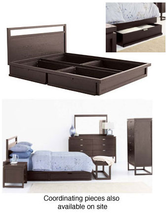 eliza queen size bed with storage space - Queen Size Bed Frame With Storage