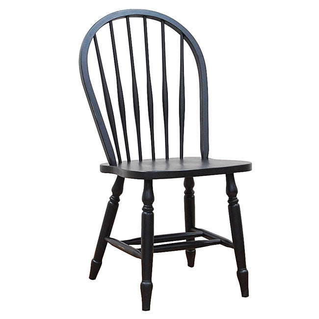 Antique Windsor Chairs Dining: Windsor Antique Black Dining Chairs (Set Of 2)