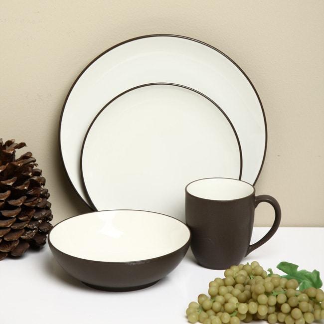 noritake colorwave 16piece chocolate dinnerware set - Noritake Colorwave