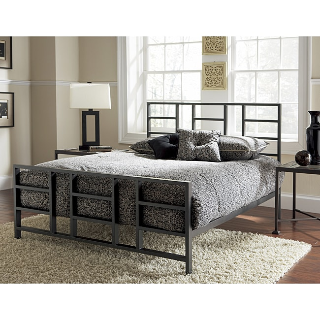 Fulton Slate Grey Queen Size Metal Bed Free Shipping