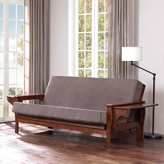 All Wood Futon Set With Table Arm And Mattress Free