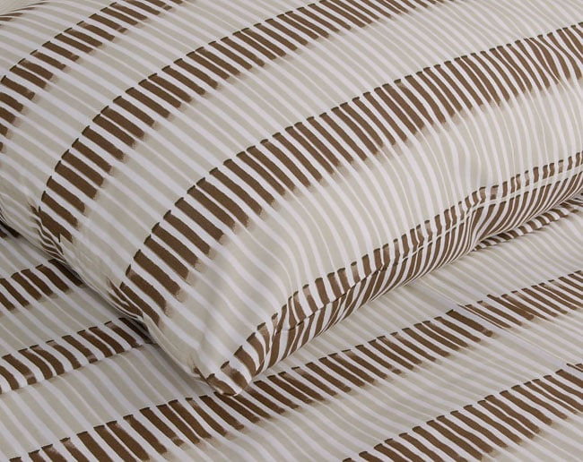 Bamboo Brown 200 Thread Count Duvet Cover Set