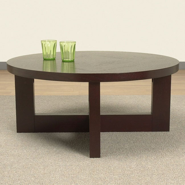 Wenge Round Coffee Table Free Shipping Today 80010053
