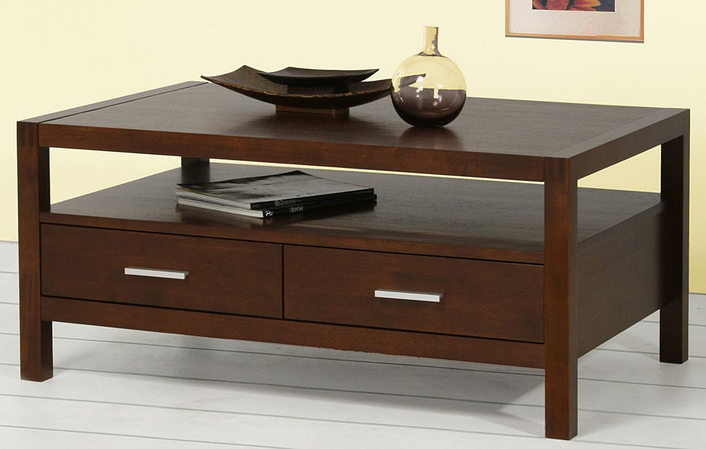 Creighton Walnut Cherry 4-drawer Coffee Table - Creighton Walnut Cherry 4-drawer Coffee Table - Free Shipping