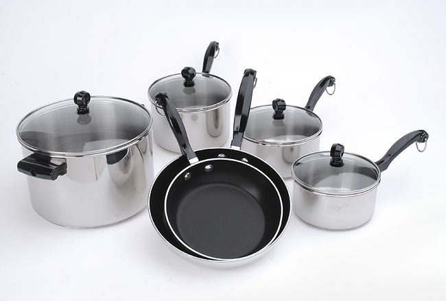 Farberware Chrome 10-piece Pot/Pan Set