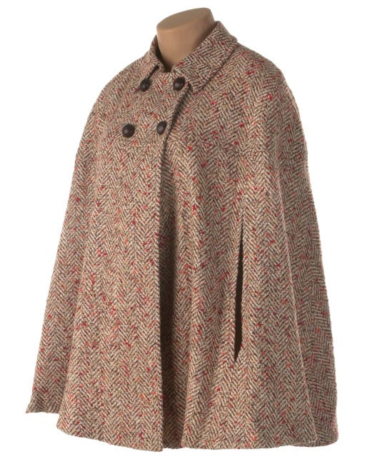 Marvin Richards Plus Size Double Breasted Cape