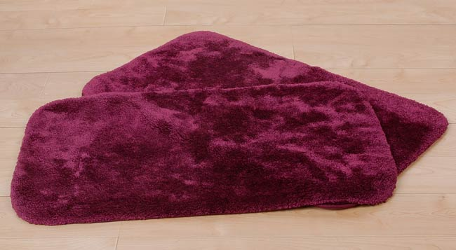 Pacific Burgundy Bath Rugs Set Of 2 Free Shipping On