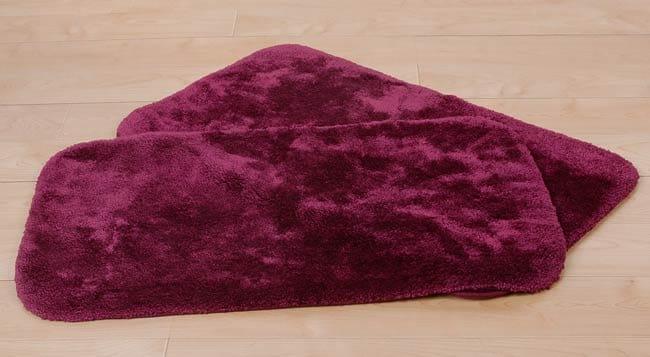 Shop Pacific Burgundy Bath Rugs Set Of 2 Free Shipping
