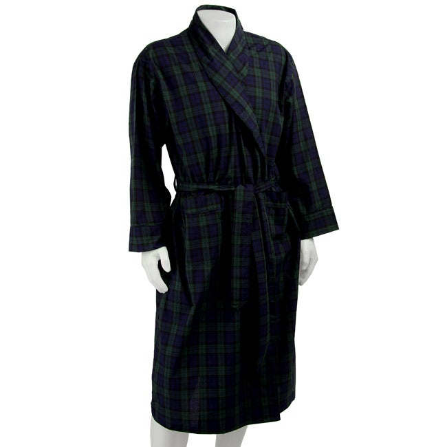 Embassy Apparel Men's Plaid Robe