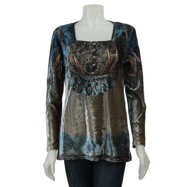 one world apparel s stretch velour top free