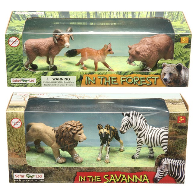 hand painted forest and savannah animal figurines free shipping on