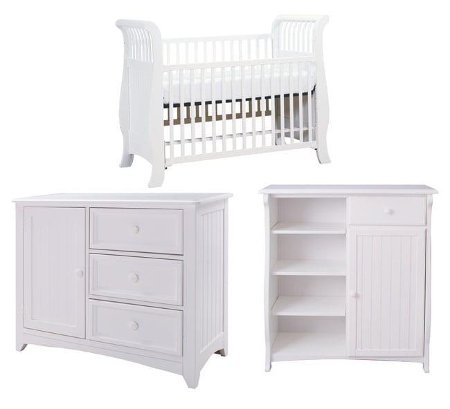 Bassett Baby Cottage White 3-piece Nursery Set