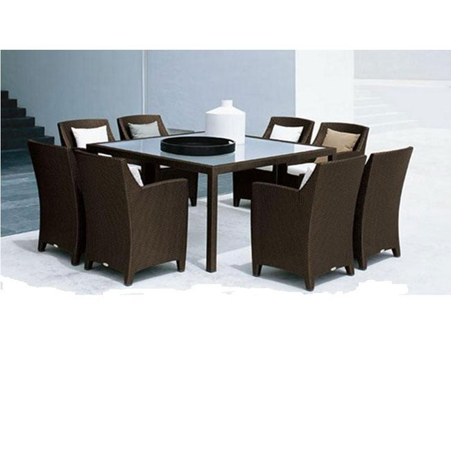 clara 9 piece wicker patio dining set free shipping today