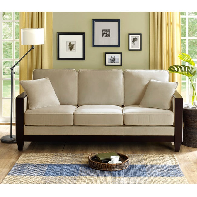 Bella pearl brooks sofa free shipping today overstock for Front room furniture sale