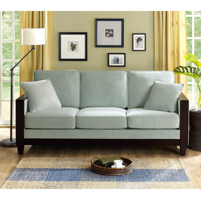 Bella Sea Foam Brooks Sofa Free Shipping Today