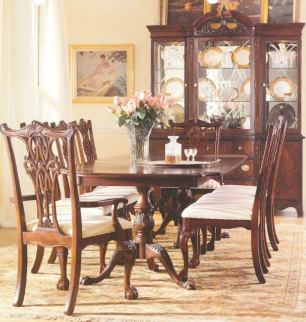 Broyhill Double Pedestal Table - Free Shipping Today - Overstock ...