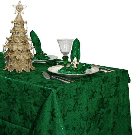 Green U0026#x27;Poinsettiau0026#x27; Tablecloth ...