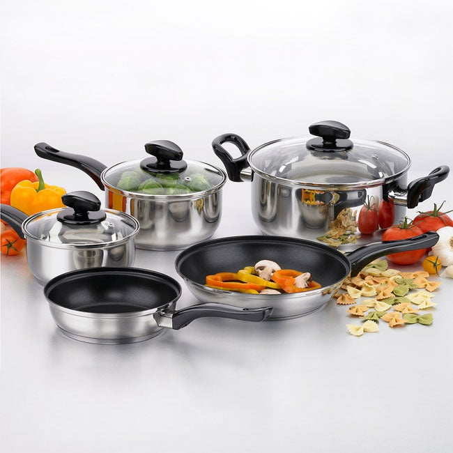 8pc. Riviera Heavy Duty 18/10 Stainless Steel Cookware Set