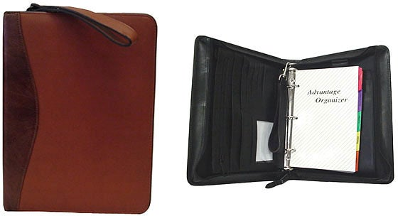 Zippered Leather Binder