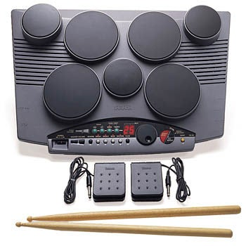 yamaha dd50 digital drum machine with 7 pads refurbished free shipping today. Black Bedroom Furniture Sets. Home Design Ideas