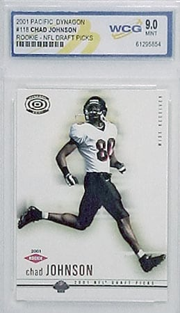 2001 Chad Johnson Dynagon Rookie (Mint-9)