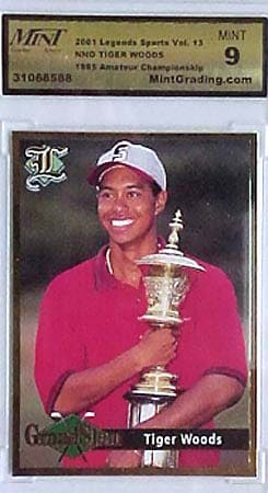 1995 Tiger Woods Amateur Champ Card (Mint-9)