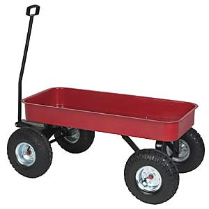 Steel Tub Red Wagon